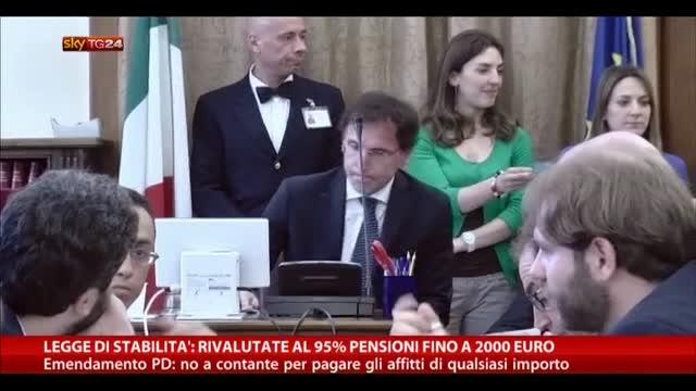 Legge stabilità: rivalutate al 95% pensioni fino a 2000 euro