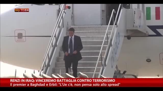 Renzi in Iraq: vinceremo battaglia contro terrorismo