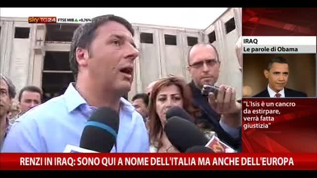 Renzi in Iraq: l'Italia ha autorizzato invio armi ai Curdi