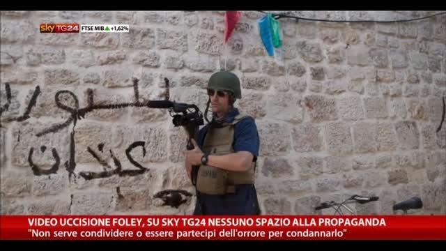 Morte Foley, su Sky TG24 nessuno spazio alla propaganda