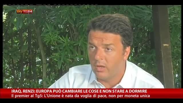 """Iraq, Renzi: """"L'Europa può cambiare le cose"""""""