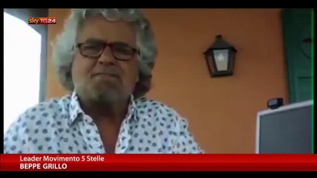 """Grillo: """"C'è una campagna stampa contro il M5S vergognosa"""""""