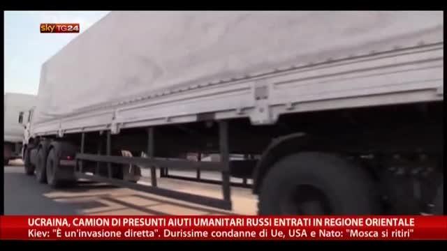 Ucraina, aiuti umanitari russi entrati in regiona orientale