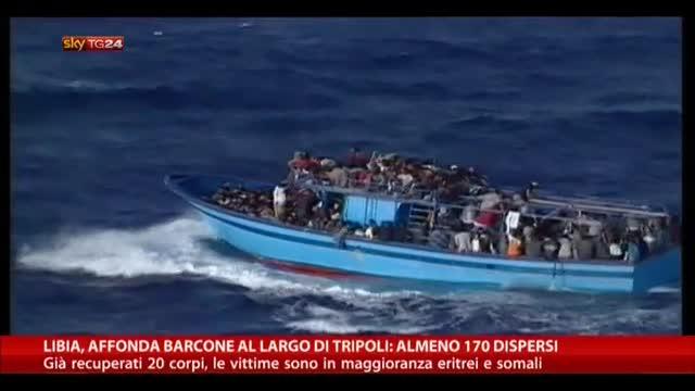 Libia, affondato un barcone al largo di Tripoli