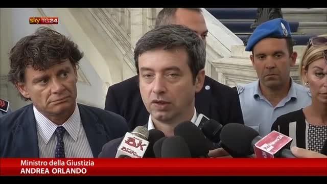 Renzi: dimezzare arretrato giustizia civile in 1000 giorni