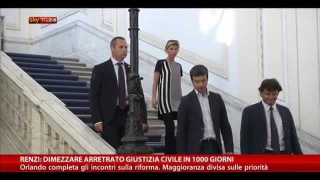 Giustizia Civile, Renzi: Dimezzare arretrato in 1000 giorni