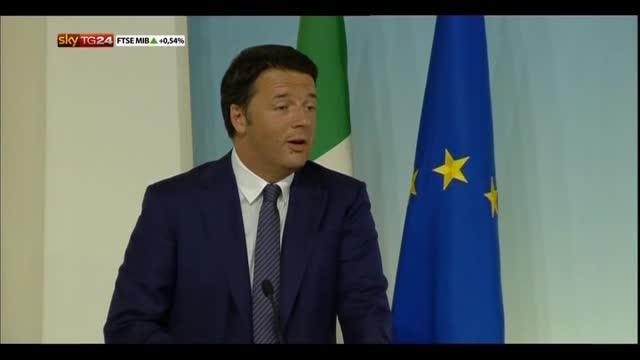 Lavoro, Renzi: c'è un disegno culturale dietro gli 80 euro