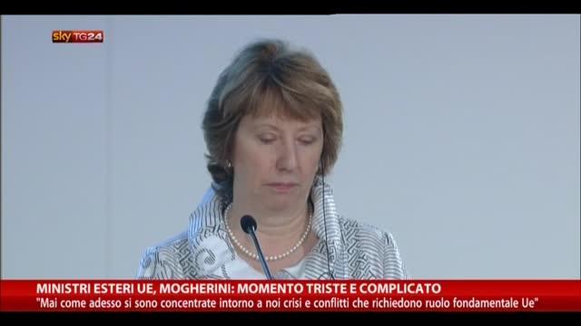 """Ministri Esteri UE, Mogherini: """"Momento triste e complicato"""""""