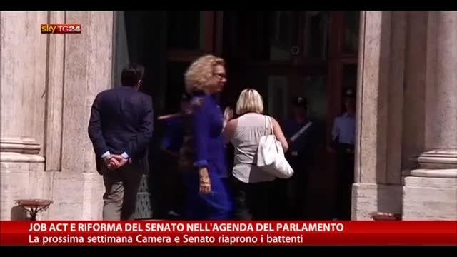 Job Act e riforma del Senato nell'agenda del parlamento
