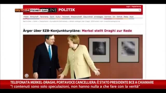 Portavoce Merkel: è stato Draghi a chiamare