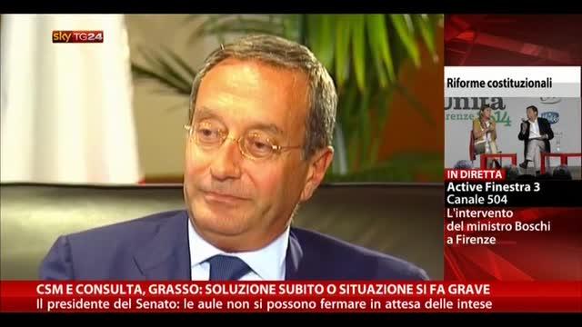 Csm e consulta, Grasso: soluzione subito o situazione grave