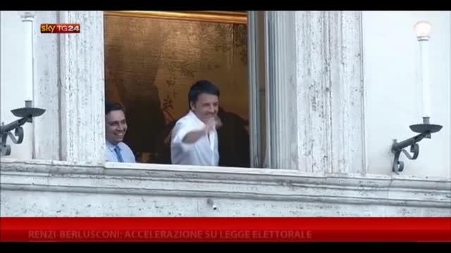 Renzi-Berlusconi: accelerazione su legge elettorale
