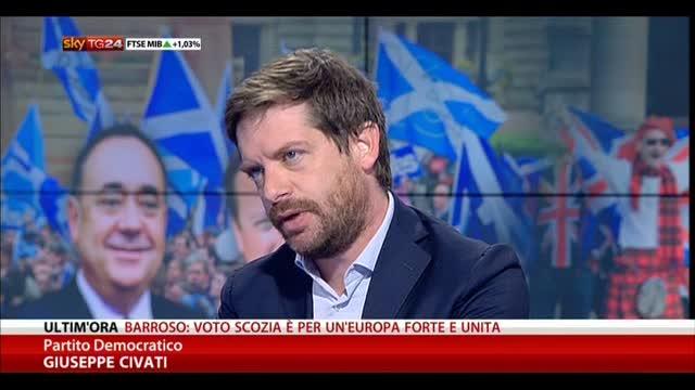 Lavoro, Civati: Renzi con Sacconi, PD ha sentimento diverso