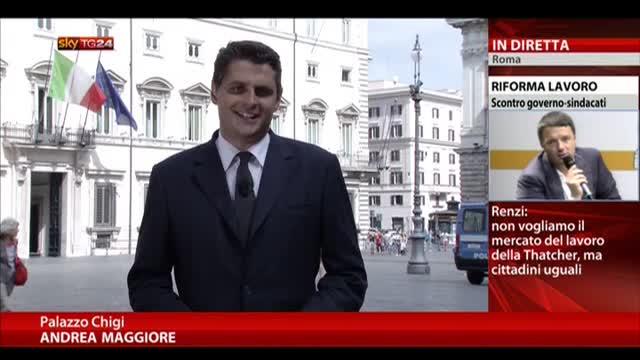 Renzi replica a Camusso, sul lavoro è scontro con sindacati