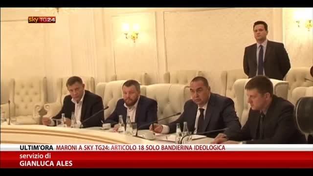 Ucraina, accordo per memorandum di pace