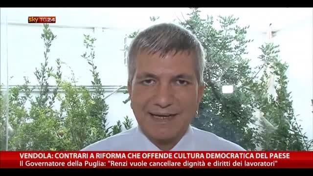 Vendola: no a riforma che offende cultura democratica Paese