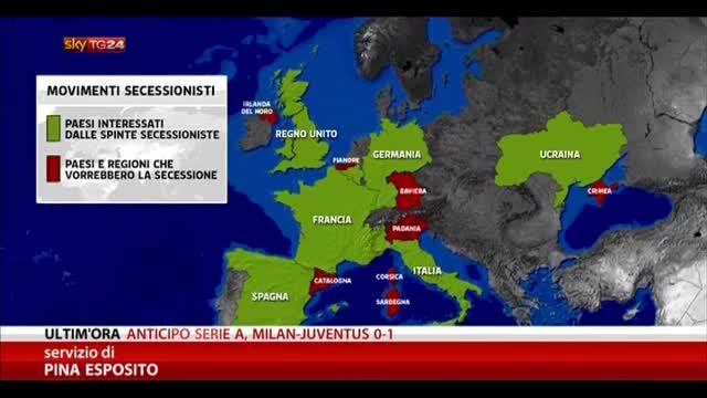 I movimenti indipendentisti in Europa