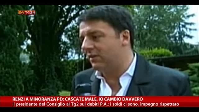 Debiti Pa, Renzi: i soldi ci sono, impegno rispettato