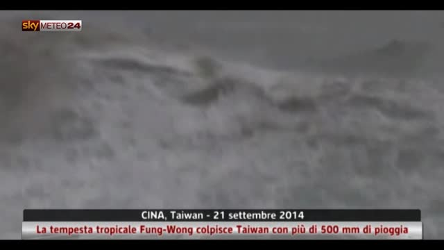 Cina, tempesta tropicale Fung-Wong porta 500 mm di pioggia