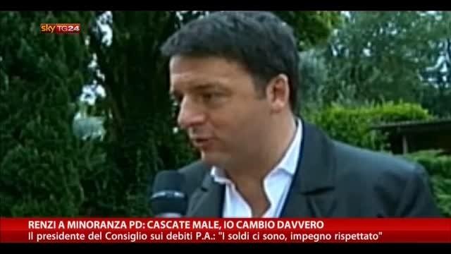 Renzi a minoranza Pd: cascate male, io cambio davvero