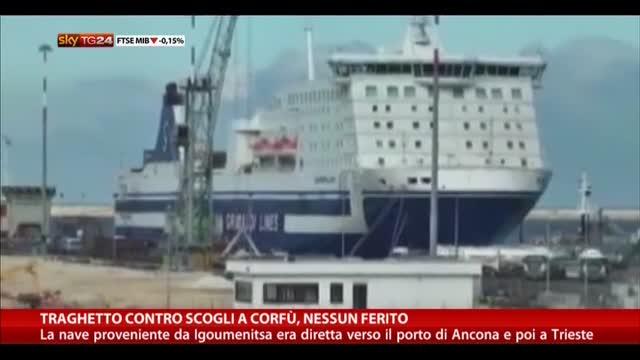 Traghetto contro scogli a Corfù, nessun ferito