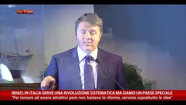 Renzi: in Italia serve una rivoluzione sistematica