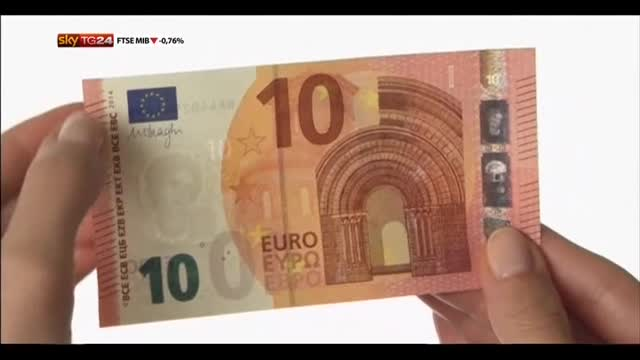 Entra oggi in circolazione la nuova banconota da 10 euro