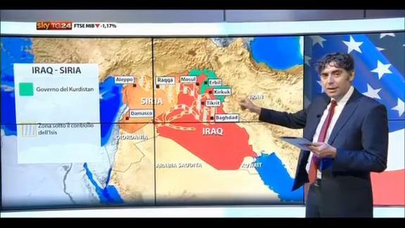 Offensiva Usa contro Isis in Siria: la mappa dei raid