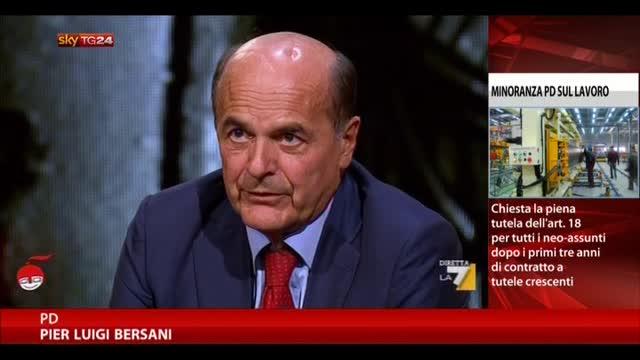 Bersani: non ci sono io al governo ma chiedo rispetto