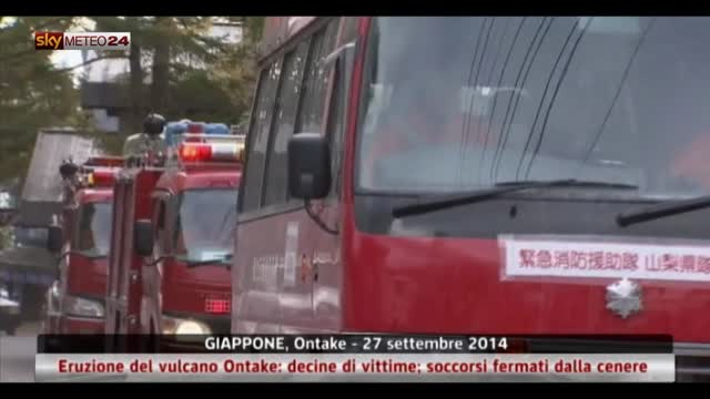Giappone, eruzione del vulcano Ontake: decine di vittime