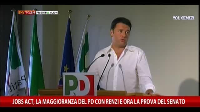 Jobs Act, maggioranza Pd con Renzi e ora la prova del Senato