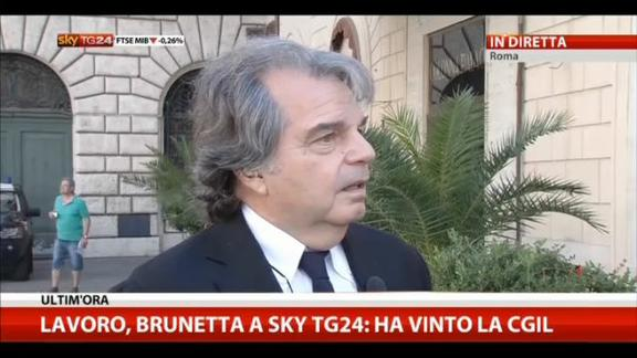 Brunetta a Sky TG24: Renzi ha fatto marcia indietro