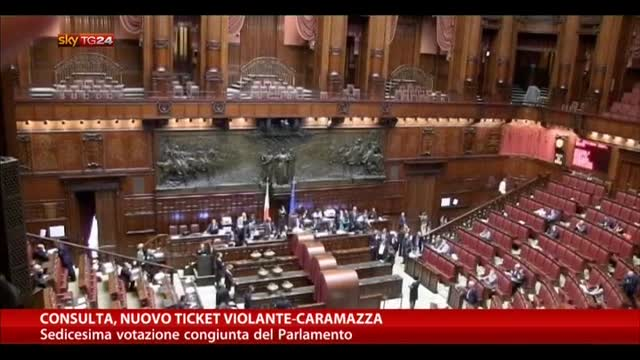 Consulta, nuovo ticket Violante-Caramazza