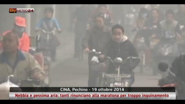 Cina, tanti rinunciano alla maratona per troppo inquinamento