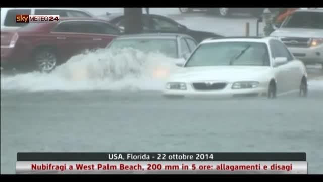 Nubifragi a West Palm Beach, 200 mm in 5 ore