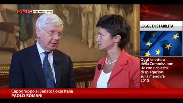 """Romani: """"Se è arrivata lettera dell'Ue c'è da preoccuparsi"""""""