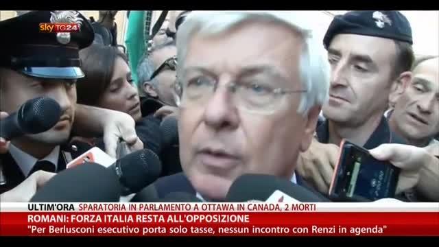 Romani: Forza Italia resta all'opposizione