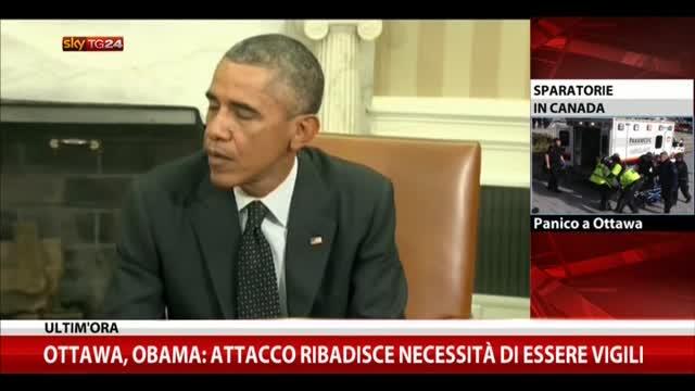 Ottawa, Obama: attacco ribadisce necessità di essere vigili