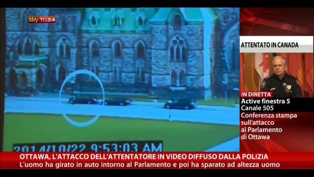 Ottawa, attacco dell'attentatore in video diffuso da polizia