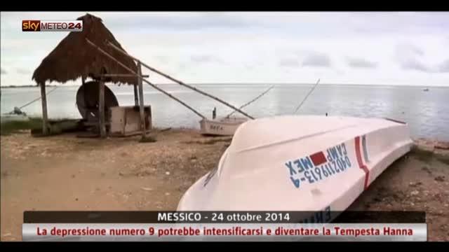 La depressione numero 9 in rinforzo tra Messico e Caraibi