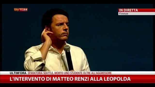 Renzi: nel 2011 capii che l'Italia era scalabile