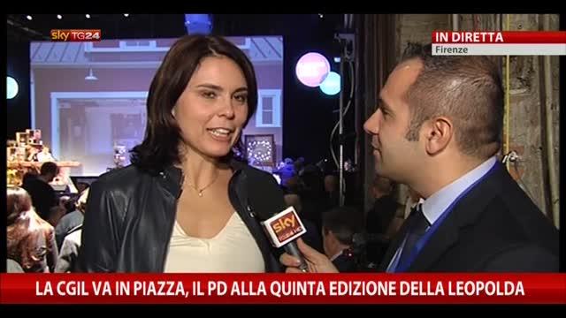 Leopolda a Firenze, intervista a Simona Bonafè