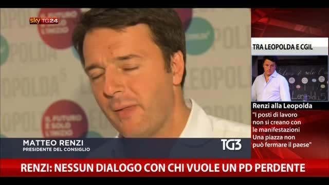 Renzi: nessun dialogo con chi vuole un PD perdente