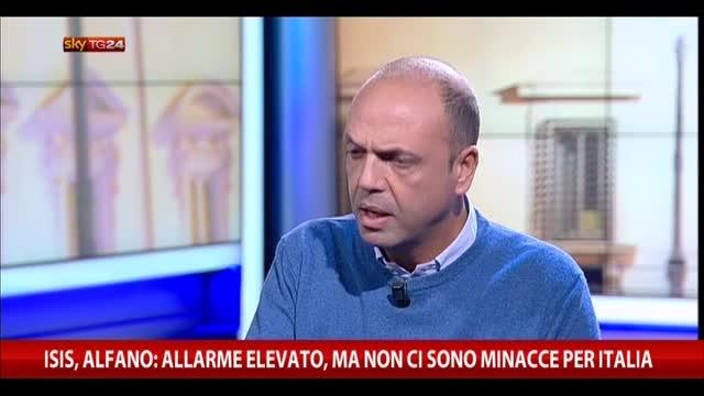 Isis, Alfano: allarme elevato, ma no minacce per Italia