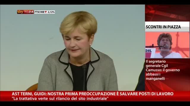 Ast Terni, Guidi: preoccupazione è salvare posti di lavoro