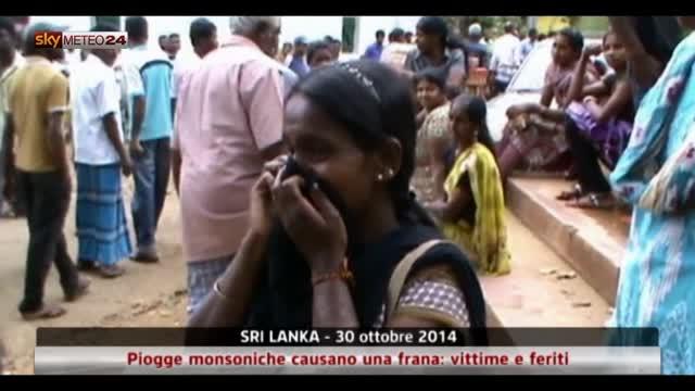 Sri Lanka, piogge monsoniche causano frana: vittime e feriti