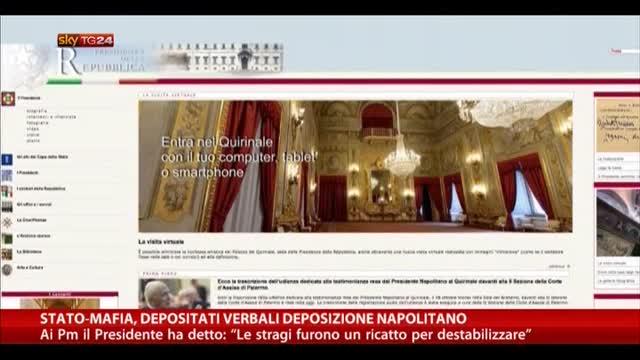 Napolitano: la mafia voleva destabilizzare lo Stato