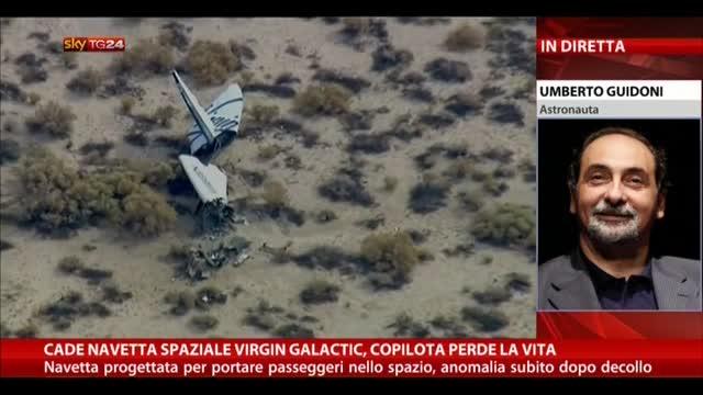 Cade navetta Virgin Galactic, il commento di Umberto Guidoni