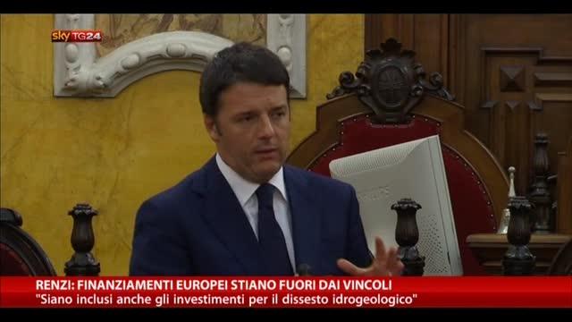 Renzi: finanziamenti europei stiano fuori dai vincoli