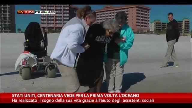 Stati Uniti, centenaria vede per la prima volta l'oceano